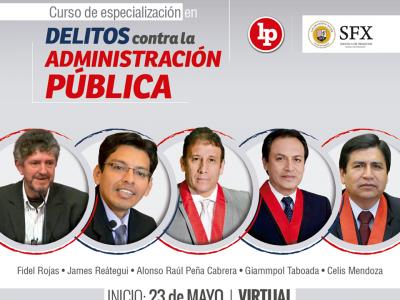 Curso de especialización en delitos contra la administración pública