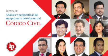 Seminario: «Análisis y perspectivas del anteproyecto de reforma del Código Civil» (18, 19 y 20 de setiembre)