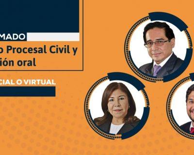 Diplomado: Código Procesal Civil y litigación oral (virtual o presencial). Inicio: 29 de abril de 2020